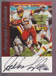 1999 Fleer Sports Illustrated Autograph Auto Joe Washington Washington Redskins