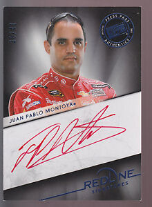 2013 Press Pass Red Line Signatures Autograph Auto Juan Pablo Montoya 30/41