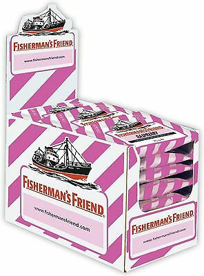 Fishermans Friend Pastillen ((1000g=33,32€) Fishermans Friend Himbeere ohne Zucker - 24 Beutel - Pastillen)