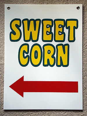 Sweet Corn Sign With Arrow Pointing Left New 18 X 24 With Grommets 25 Off 3