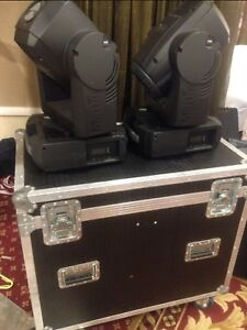 Martin Mac 250 Krypton Moving Head Fixture Lights In Flightcase