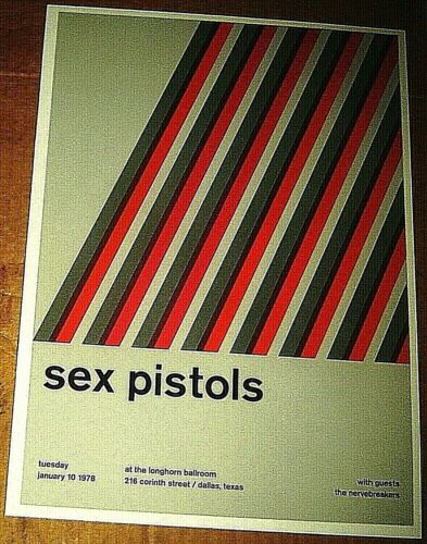 SEX PISTOLS ROCK CONCERT POSTER SWISS PUNK GRAPHIC POP ART 10X14 SID VICIOUS
