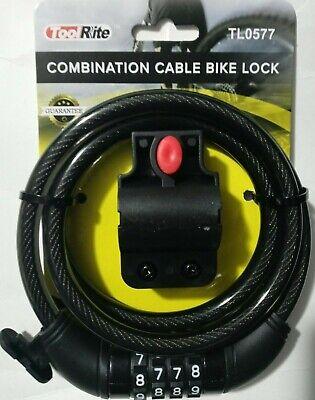 Bike Lock,TONYONR Bike Cable Lock with Mounting Bracket 4 Feet x 1//2 Inch Diameter