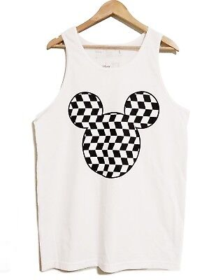 MENS NEFF DISNEY COLLECTION MICKEY MOUSE TANK TOP T-SHIRT SIZE L