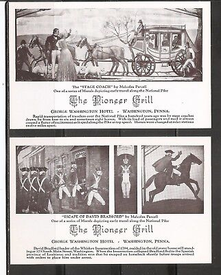 The Pioneer Grill, George Washington Hotel, Washington Pennsylvania. Unposted