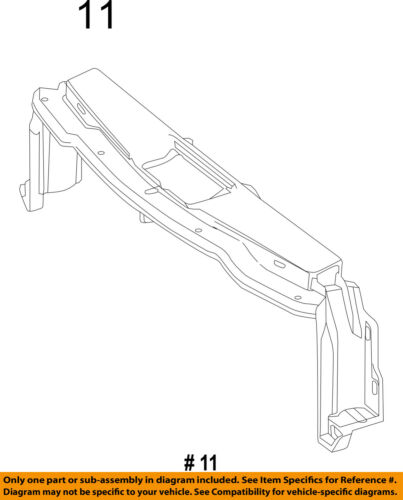 Mercedes MERCEDES-BENZ OEM CLS550 Radiator Core Support-Upper Tie Bar 2186200072
