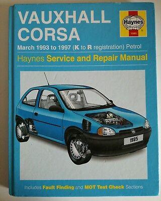 Haynes Car Manual Vauxhall Corsa March '93 to 1997-(K to R reg) - Petrol engine