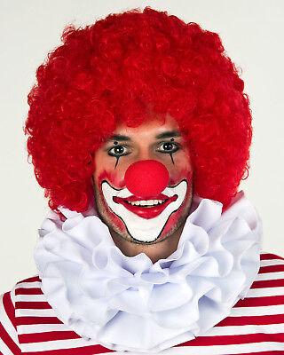 Kragen Clown Kostüme (weißer dreilagiger Clownkragen Kragen Clown Karneval Fasching Kostüm)