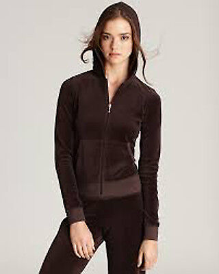 - JUICY COUTURE~CHESTNUT BROWN VELOUR HOODIE JACKET~XS NWT AUTH