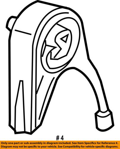 Chrysler Oem Engine Motor Transmission Rear Support 4578020ab