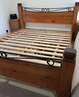 Excellent QUALITY SOLID WOOD KING BED Frame Deliver
