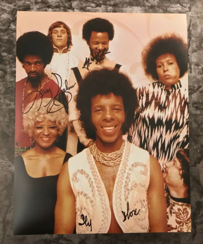 GFA Larry Freddie & Sly * SLY AND THE FAMILY STONE * Signed 11x14 Photo AD3 COA