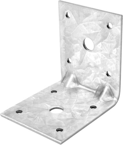 10Pcs 2⅞ inches Steel L Right Angle Bracket 90 Degree Galvanized Corner Braces