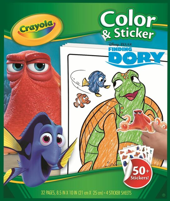 Crayola Colouring & Sticker Books - Finding Dory