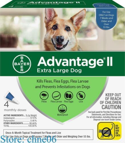 Advantage II Topical Flea Treatment for Dogs 55+ lbs.- 6-dos