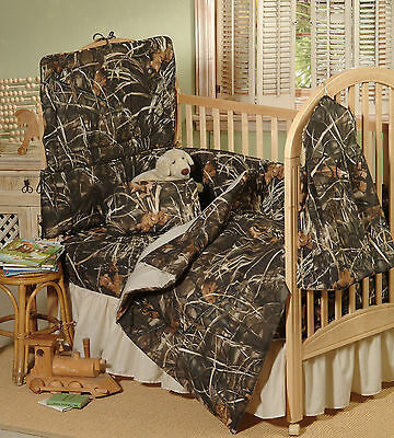 - REALTREE MAX 4 CAMOUFLAGE BABY CRIB BEDDING SET - 5 PIECES, TODDLER