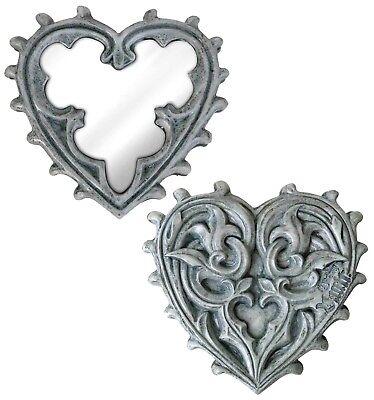 Romántico Recargado Barroco Gótico Corazón Compacto Maquillaje Espejo V38