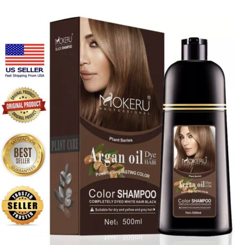 Mokeru Natural Permanent Instant Fast Hair Dye Color Shampoo