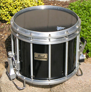 pearl championship ffx marching snare drum 14 034 x12 034 midnight black w new heads ebay. Black Bedroom Furniture Sets. Home Design Ideas