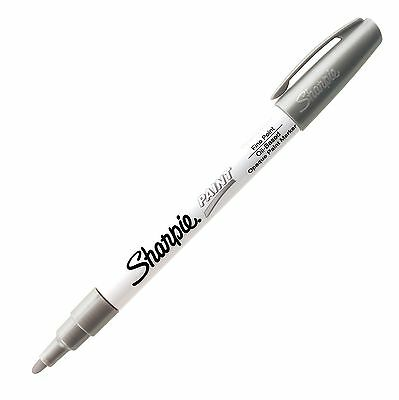 Sharpie Paint Oil Base Metallic Silver Fine Shp 35545 - 12pk