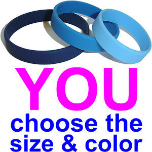 10-Silicone-Wristbands-Wrist-Bands-Blank-NEW-Rubber-Bracelets-Free-Shipping