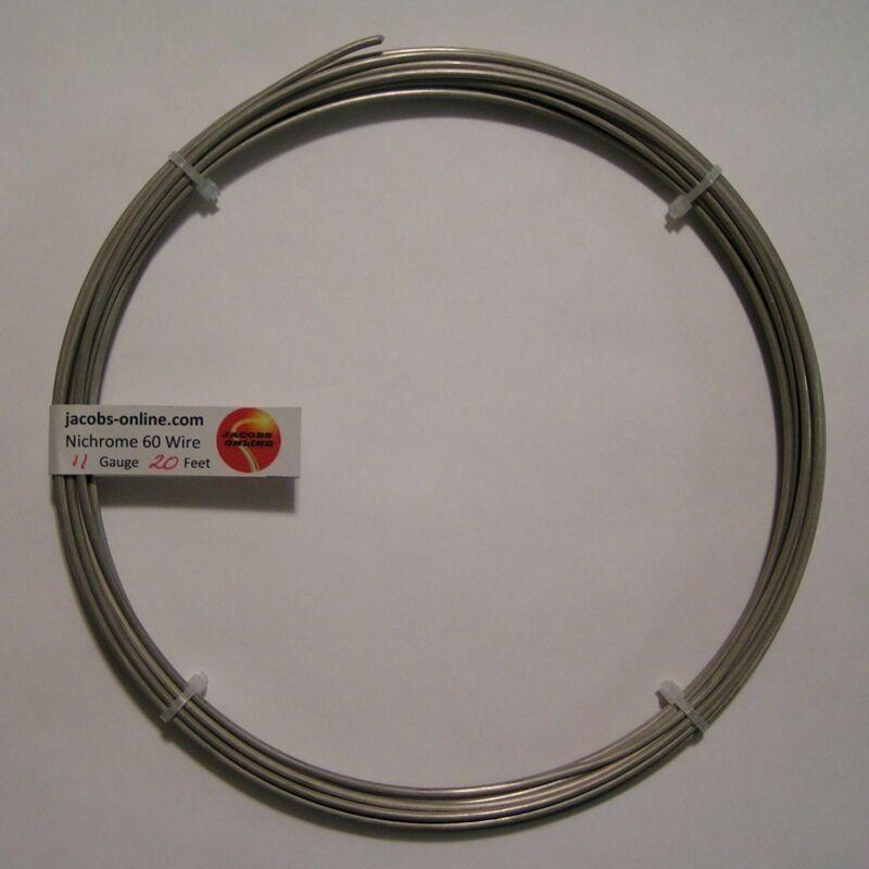Nichrome 80 resistance wire, 11 AWG (gauge), 20 feet