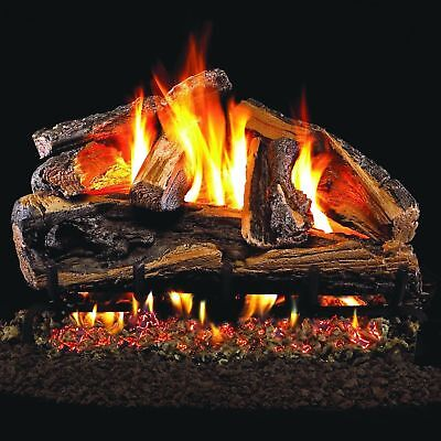 Peterson Real Fyre 24-inch Rugged Split Oak Gas Log Set With Vented g46 ng/lp..