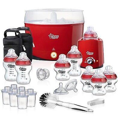 Red  Baby Steriliser Essentials Kit Tommee Tippee BPA Free