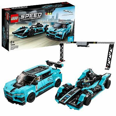 LEGO 76898 Speed Champions Formula E Jaguar Racing GEN2 & I-PACE eTROPHY Cars