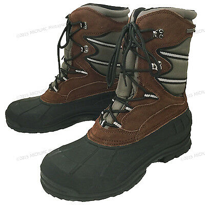 Men's Winter Boots Hiking Leather Nylon Waterproof Thinsulate Hunting Snow Shoes