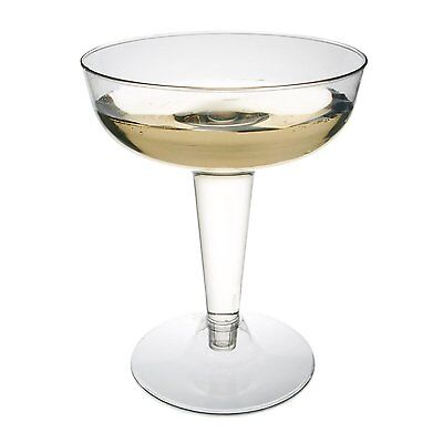 Plastic Wine Glasses Champagne Wedding Party Disposable Clear Toasting Cup x120 ](Clear Plastic Champagne Glasses)