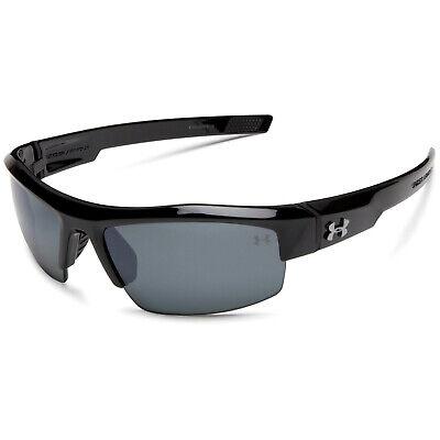 Under Armour UA Igniter Shiny Black Frame Gray Polarized Mirror Lens Sunglasses ()