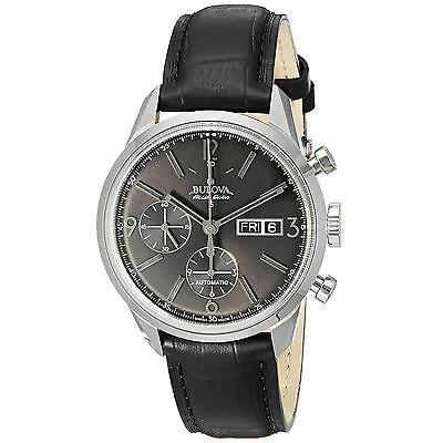 Bulova Accutron Men's 63C115 Accu Swiss Murren Chronograph Angry Leather Watch