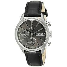 Bulova Accutron Men's 63C115 Accu Swiss Murren Chronograph Black Leather Watch