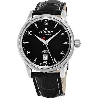 Alpina Men's Alpiner 41.5mm Leather Band Steel Case Automatic Watch AL-525B4E6