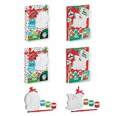 B-THERE 4 Set - Paint Your Own Xmas Ornament, Xmas Activity Packs for Kids](Christmas Ornament Crafts For Kids)