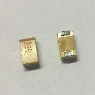 Tantalum Capacitors 33uf 16v Smd Used 100 Pcs