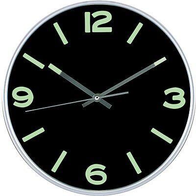 Large Non Ticking Wall Clock Indoor/Outdoor Silent Modern Quartz Utopia Home