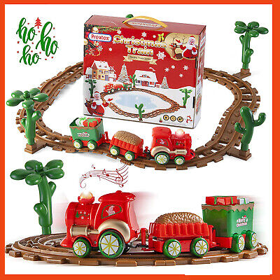 Prextex Kids Christmas Train Around The Tree Musical Christmas Train Set for Kid