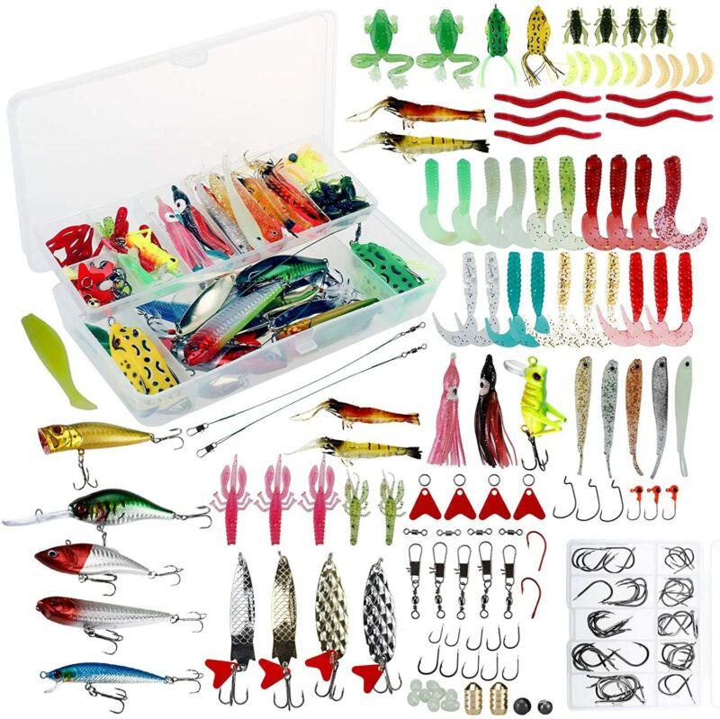 Amarine Made 275 PCS Fishing Lures Tackle Kit Set Fishing Tackle Box with Tackle