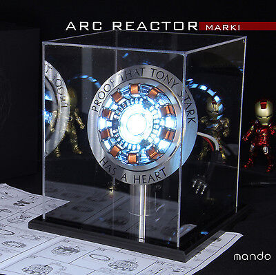 Iron man ARC Reactor MK1 Tony Stark heart LED Chest Light USB Powered DIY model