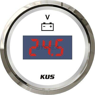 KUS Marine Digital Voltmeter Gauge Boat Car Battery Voltage Indecator 9-32V