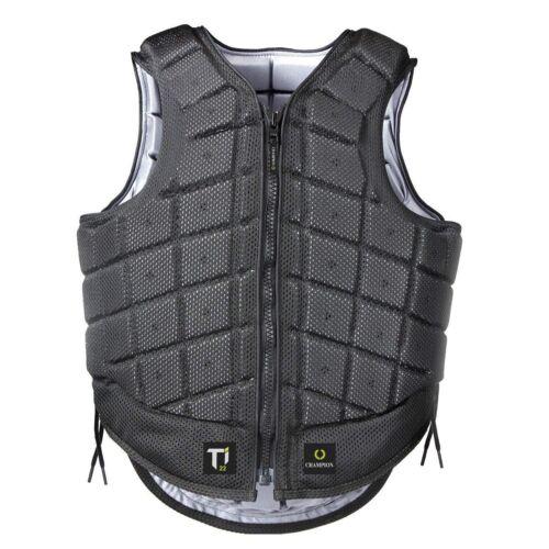 Equestrian Vest Protective Gear ADULT Ti22 Titanium Champion  Black Body