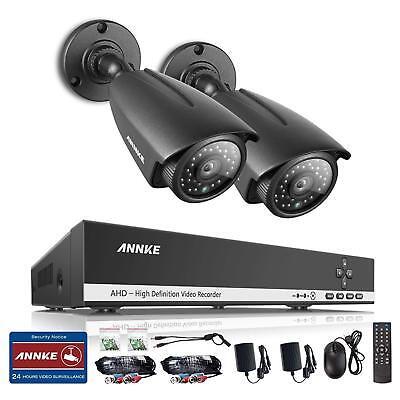 4CH AHD Überwachungssystem, H.264 DVR + 2x 720P Kameras IP66 (ohne HDD) H. 264 Dvr