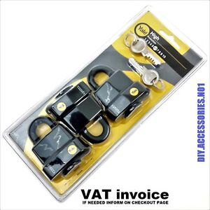 YALE PADLOCK 3 X 51MM  KEYED ALIKE - HIGH SECURITY - STRONG - OUTDOOR USE - NEW