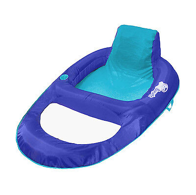 SwimWays Spring Float Recliner XL Inflatable Swimming Pool Float Lounge Chair