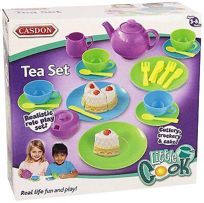 Casdon Childrens Kitchen Little Cook Teaset Tea Set Playset Toy