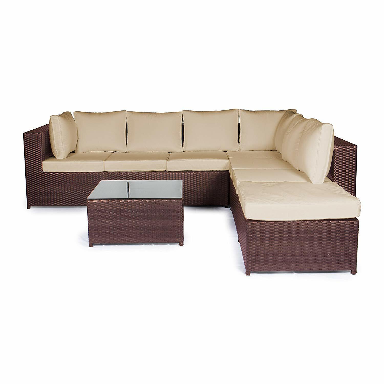 Vanage Lounge Möbel Terrasse Gartenmöbel Set XXL Sitzgruppe Essgruppe Gartenset