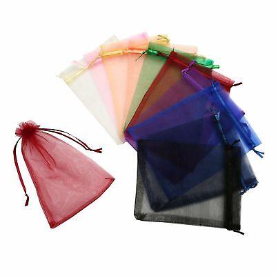100Pcs Organza Gift Bags Wedding Party Favor Drawstring Jewelry Pouches Wrap (Wedding Gift Wrap)