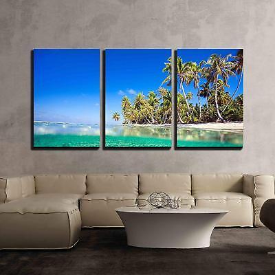 wall26 - Tropical Island in French Polynesia - Canvas Art Wall Decor - -